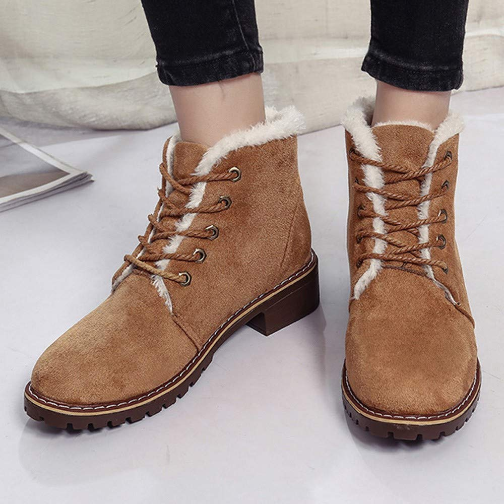 Lurryly❤Womens Fashion Winter Warm Lace-Up Martin Boots Ankle Boot Classic Shoes