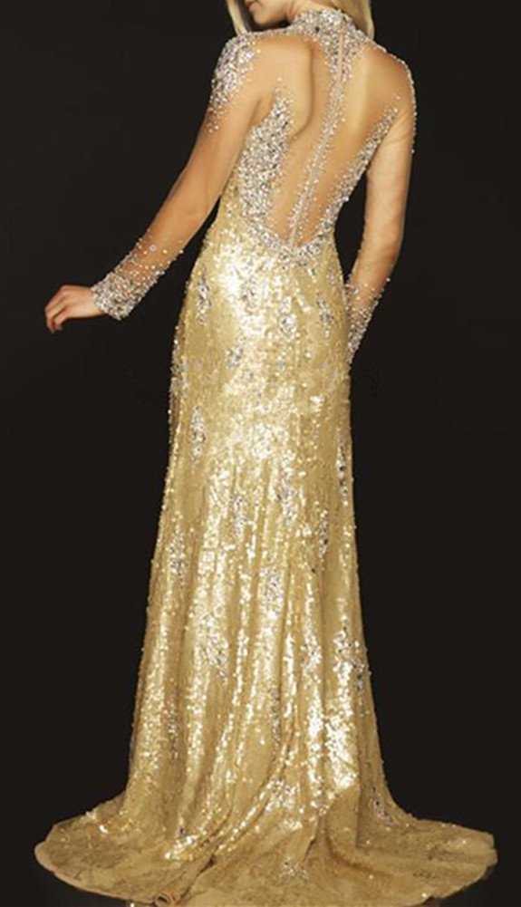 Snow Lotus Womens One Shoulder Sequins Diamond Trailing Ball Gown