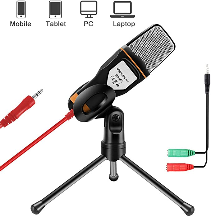 Aobetak Kondensator Mikrofone Mit Ständer Für Pc Und Computer Zubehör
