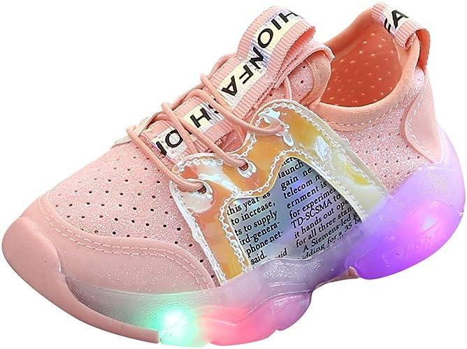 Childrens Kids Infants Boots LED lights flashing PINK BROWN ORANGE  girls boys