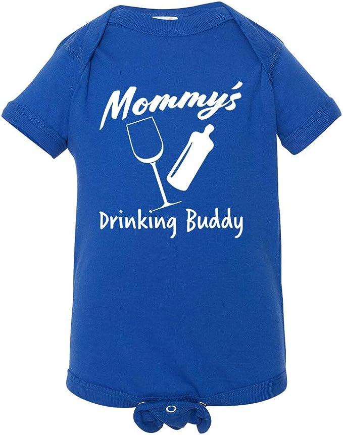 Mummys Little Drinking Buddy funny wine Baby Vest