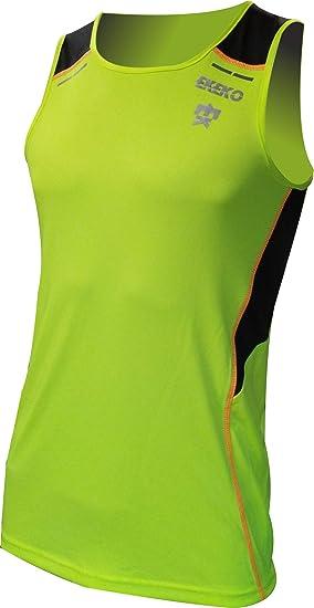 Camiseta Tecnica de Tirantes EKEKO BULLETMAN, Detalles Reflectantes, Paneles Laterales y Superior en Tejido microperforado.: Amazon.es: Deportes y aire libre