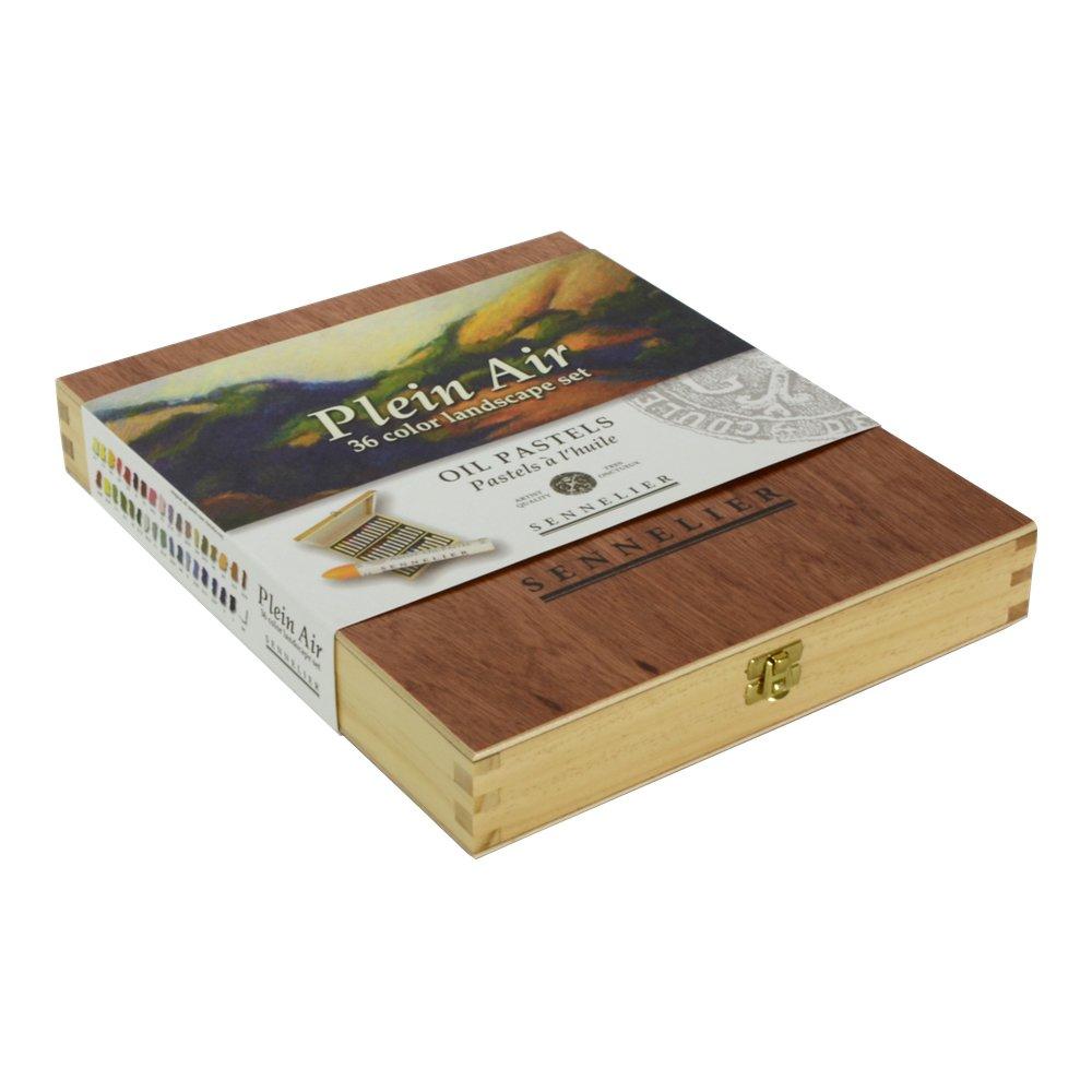 Sennelier Oil Pastel 36 Plein Air Wood Box