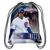 MLB Chicago Cubs Anthony Rizzo #44 2016 World Series Champions Drawstring Backpack