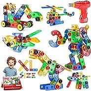 Jasonwell STEM Toys Building Blocks - 168 PCS Educational Construction Tiles Set Engineering Kit Creative Acti