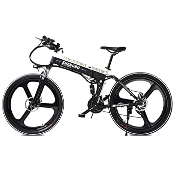 merryhe 27 speeds four link suspension e bike 400w electric folding E Cell Battery merryhe 27 speeds four link suspension e bike 400w electric folding cruiser bicycle 48v