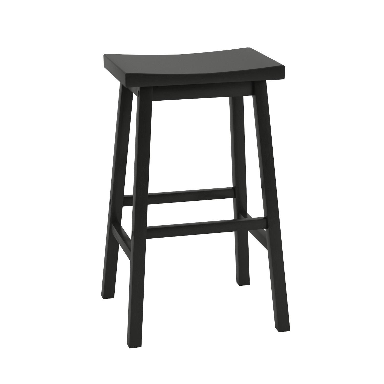Amazon.com: Winsome Wood 29-Inch Saddle Seat Bar Stool, Black ...