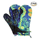 #2: MAGICAL DESIGN Funny Oven Mitts, with the Heat Resistance and Flexibility of Cotton, Recycled Cotton Infill, Terrycloth Lining, 480 F Heat Resistant Pair