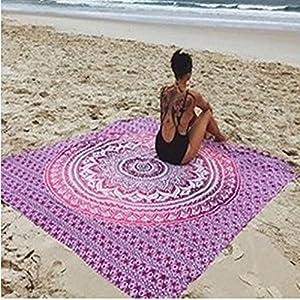 Worsworthy Toalla Tapiz Mandala Playa Mandala India Tapiz Hippie Colgar en la Pared Colcha Bohemio decoración para el… | DeHippies.com