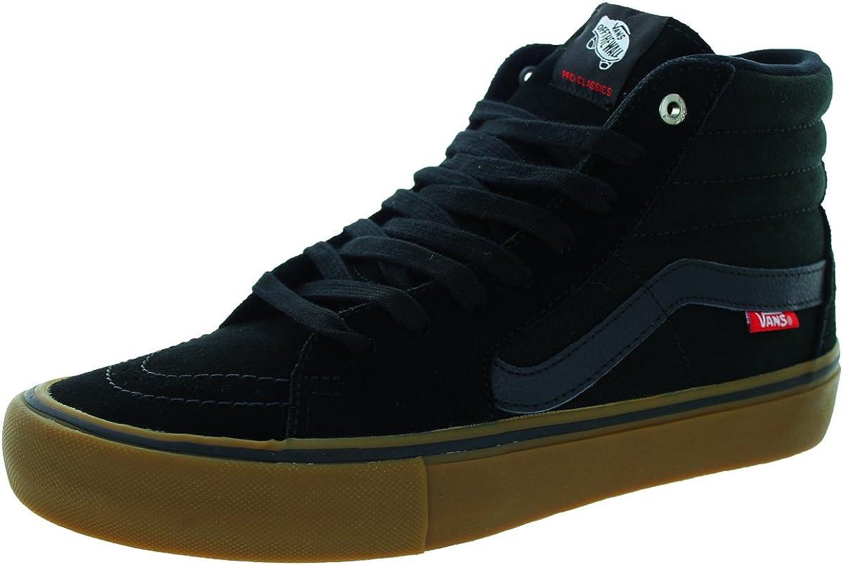 Vans Sk8-Hi Pro Skate Shoe – Men s Black Gum, 10.5