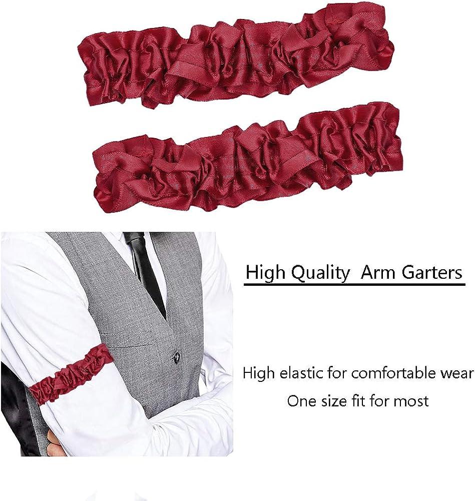 CHUANGLI 1920S Mens Armband Garter Gangster Spats Accessories Set Roaring 20S Gatsby Costume