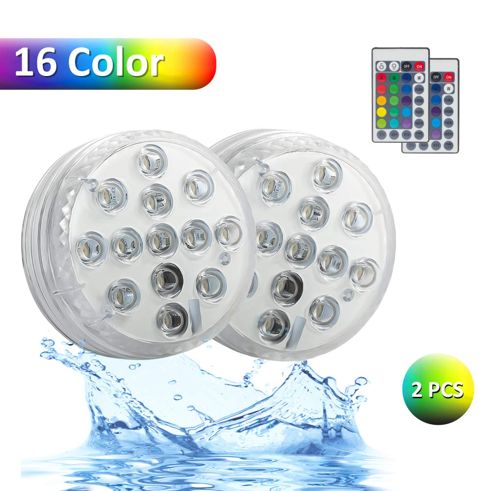 MEIHUA 30W RGB Flood Lights Outdoor Garden Lights 360 Degree RF Remote Control Color Changing Led Flood Lights for Christmas Decor Halloween Outdoor Decorations Stage Lights Pond Gazebo Light