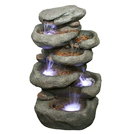 Tower Rock Water Fountain: Tall Rock Outdoor Water Feature For Gardens U0026  Patios. Weather