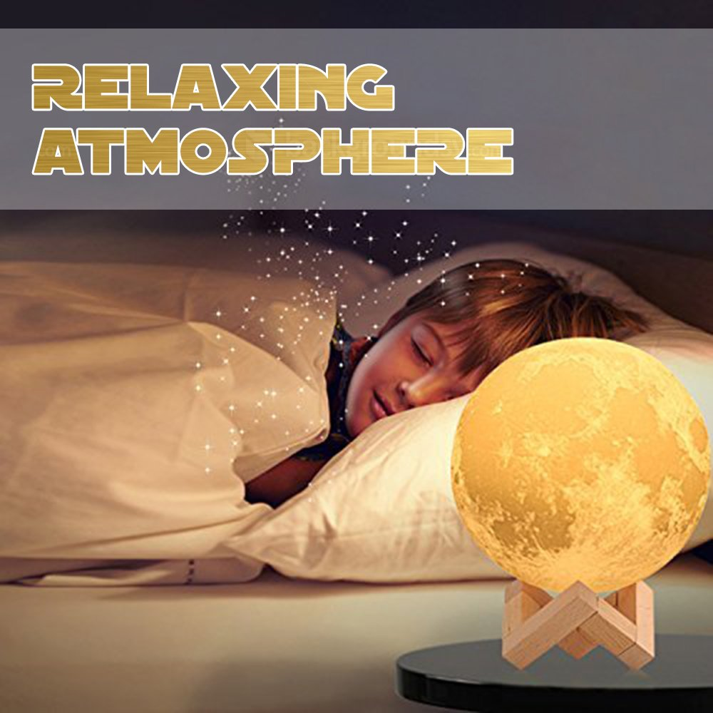 Baby Night Light, Newborn Night Light, Nursery Room Lamp, 3D Moon Lamp, Rechargeable Home Decorative Light, Dimmable Touch Control Brightness, Soothing Light, Relaxing Lamp, Helps You Sleep by Tmore (Image #1)