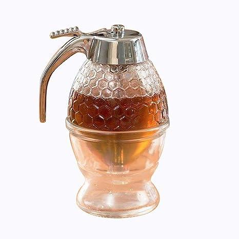 asentechuk® miel y dispensador de jarabe, botella de goteo de Abeja jarra acrílico botella