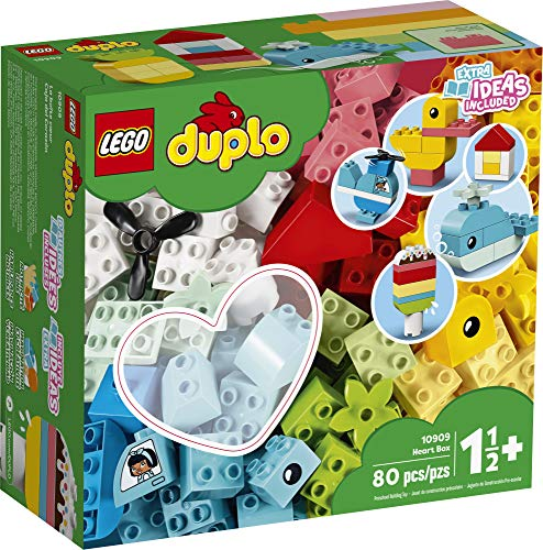 61izmPs88JL - LEGO DUPLO Classic Heart Box 10909 First Building Playset and Learning Toy for Toddlers, Great Preschooler's Developmental Toy, New 2020 (80 Pieces)