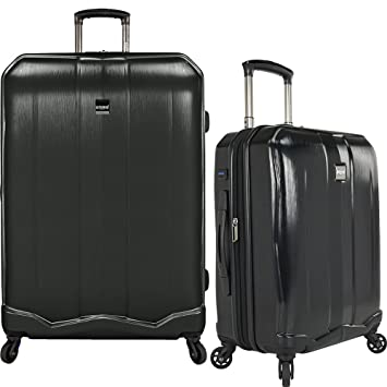 fccdd13b6ab U.S Travelers Piazza 2-Piece Lightweight Expandable Luggage Set - Black  (22-Inch