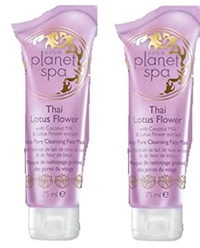 2 X Avon Planet Spa Thai Lotus Flower Deep Pore Cleansing Face Mask