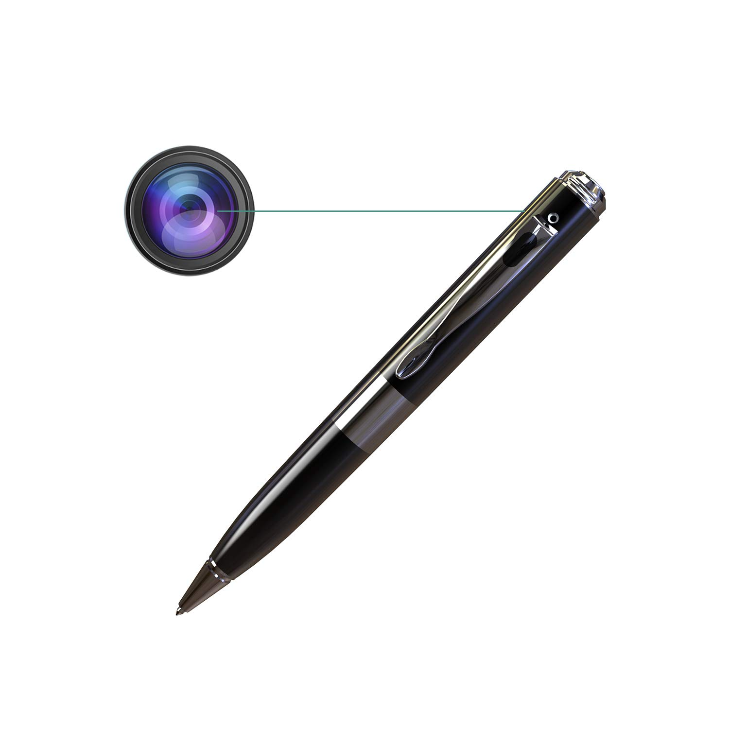 Hidden Camera,PORTOCAM POT21 FHD 1080P Spy Pen Camera Recorder Portable Security Video Recorder w Night Vision Video Only