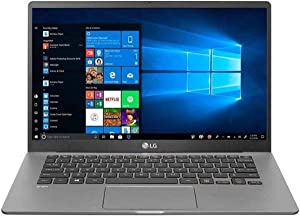"LG 14Z90N-N.APS7U1 14"" Gram Laptop with Intel Core i7 Processor, FHD IPS Screen, 16GB DDR4 RAM & 512 GB SSD, & Windows 10 Professional (64 bit) OS"