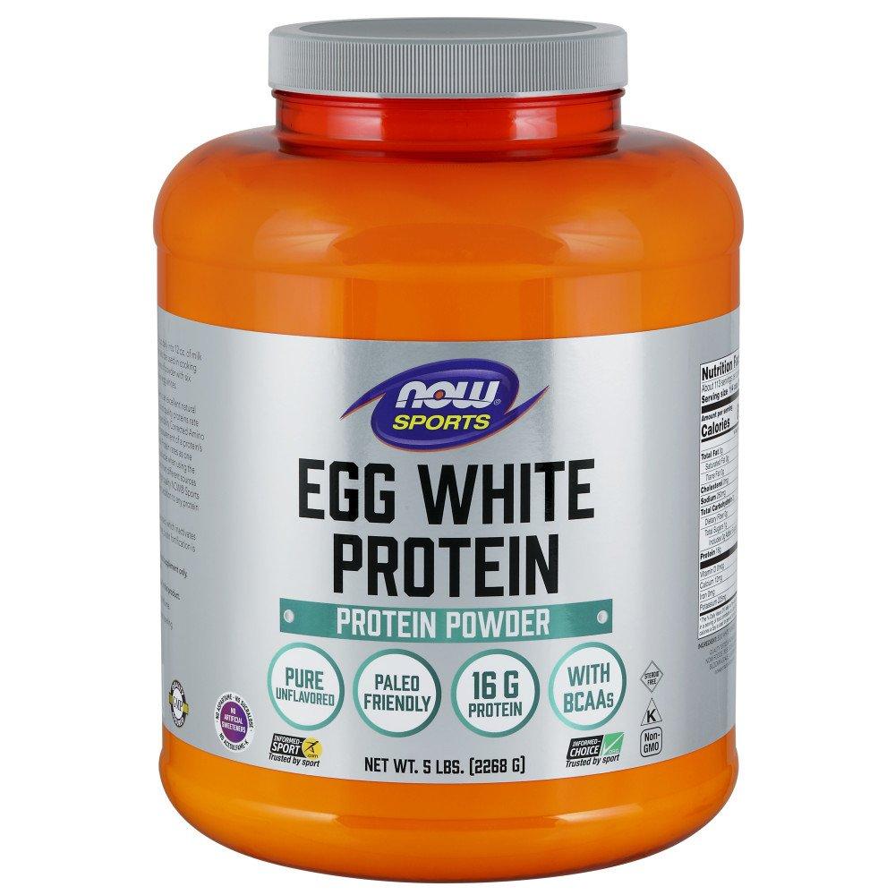 Now Sports Nutrition, Egg White Protein Powder, Unflavored, 5-Pound