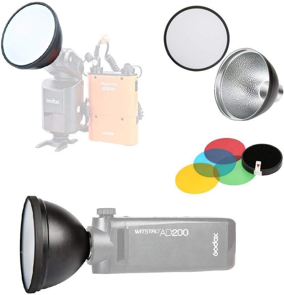 Godox R/éflecteur standard AD-S2 avec diffuseur souple et accessoires Flash de poche Witstro ad-s11 pour flashs Godox AD200 AD360 AD360II