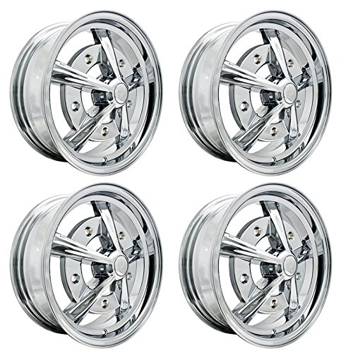 "RAIDER WHEELS All Chrome, 5"" Wide, 5 on 205mm, Dunebuggy & VW"