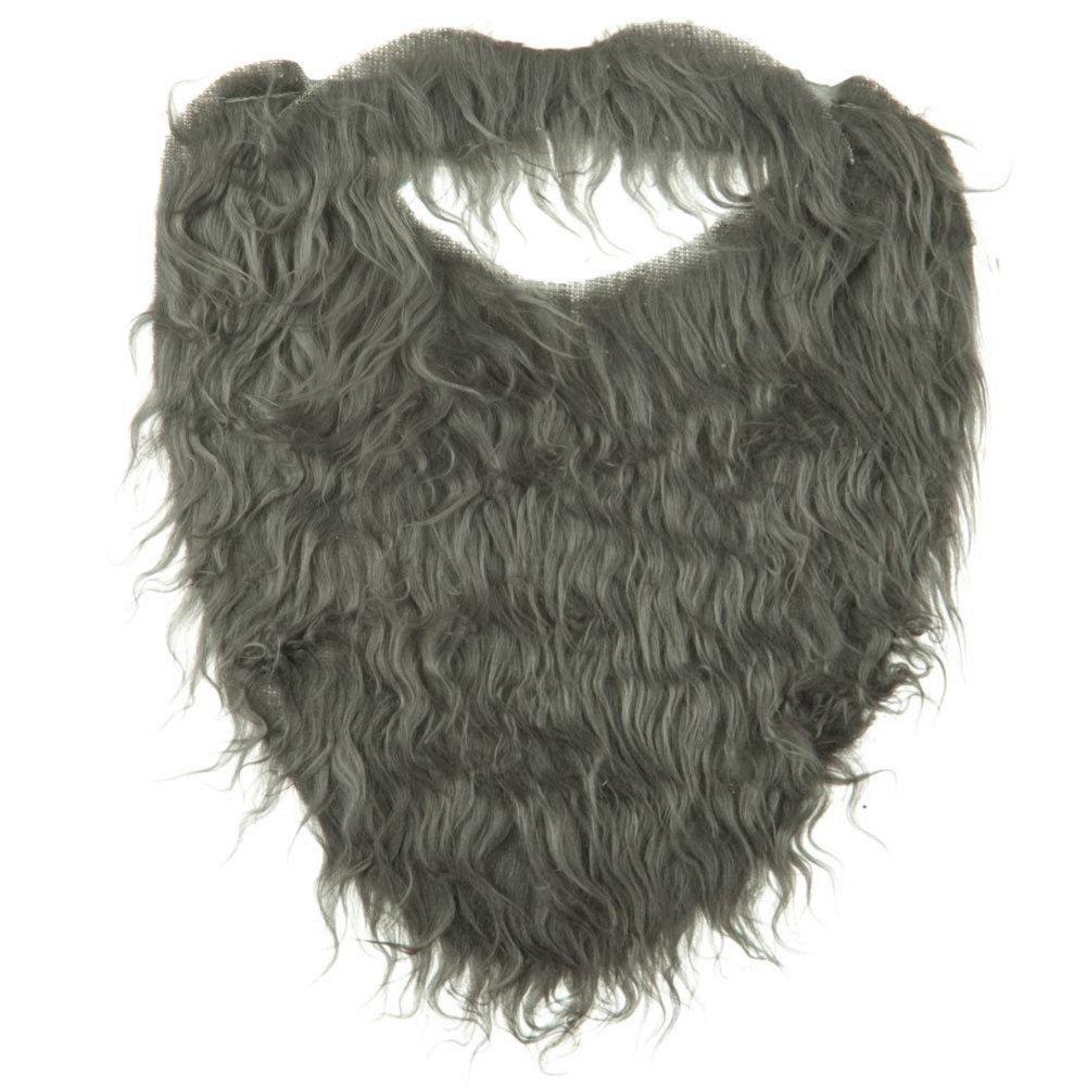 Grey Full Beard and Mustache Costume Accessory Jhats