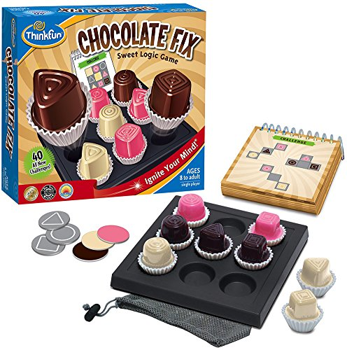 Think Fun Chocolate Fix Board Game (Colors And Parts May Vary)