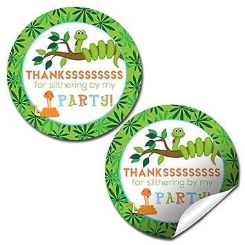 Amazon.com: Serpiente fiesta de cumpleaños gracias etiquetas ...