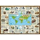 Entdecker der Welt (Bildungsposter 70x50cm): Die wichtigsten Entdecker und ihre Routen