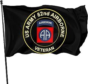 Ldajlkioei US Army Veteran 82nd Airborne Flags 3x5 Feet Outdoor Banner Garden Flag Veteran Flag - American Military Family Decoration