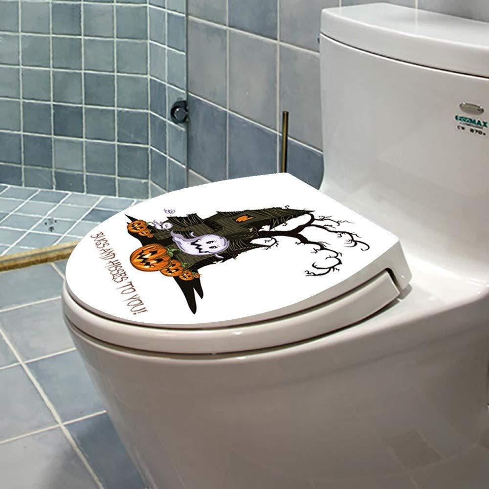 Y56 WC-Aufkleber Hallowmas Toilettensitz Wandaufkleber Deckel für ...