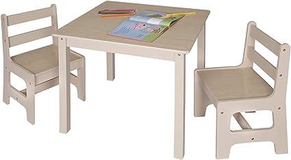 eSituro Tavolino e sedie per Bambini Tavolo da Gioco in Legno Mobili Bambini SCTS0001