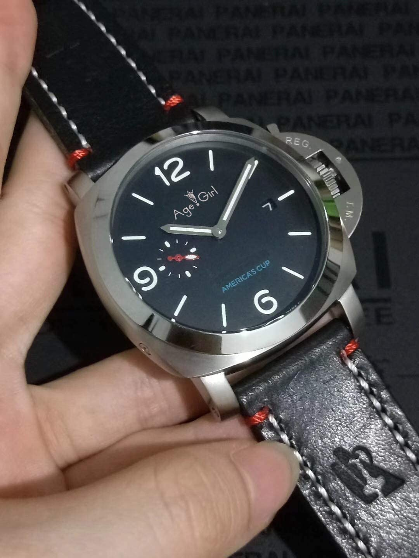 IWHSB Relojes de Pulsera automáticos de Marca Reloj de Acero Inoxidable de Zafiro mecánico automático Reloj Luminoso de Cuero Negro Luminoso