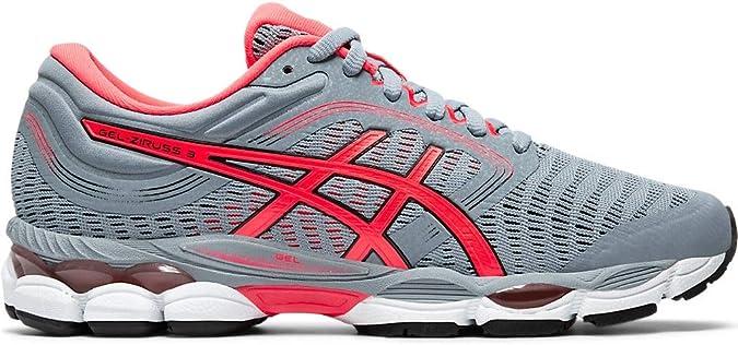 ASICS Gel-Ziruss 3 - Zapatillas de running para mujer, Gris (Hoja Rock/Diva Rosa), 43 EU: Amazon.es: Zapatos y complementos