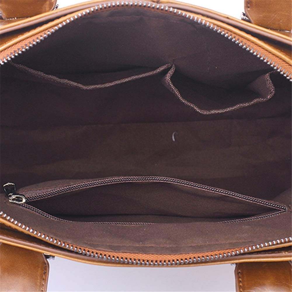 LBYMYB Mens Handbag Cross Section Korean Mens Bag Shoulder Slung Business Computer Briefcase Retro Tide Bag Business Briefcase