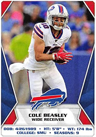 Amazon Com 2020 Panini Nfl Stickers Football 44 Cole Beasley Buffalo Bills Official Football Sticker Collection Paper Thin Approx 1 5 X 2 Inches Collectibles Fine Art