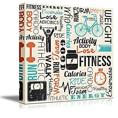 Original Creation, Wonderful Piece, Fitness Design with Typography Wall Decor