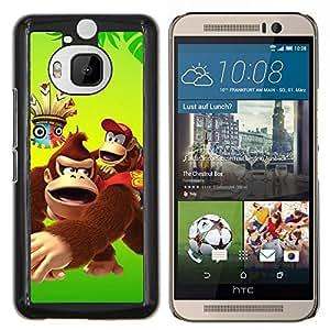 YiPhone /// Prima de resorte delgada de la cubierta del caso de Shell Armor - Feliz del mono del gorila de la historieta - HTC One M9Plus M9+ M9 Plus