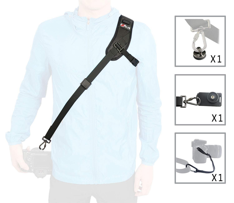 WITHLIN Paquete de fotografía profesional - deporte correa para el hombro con placa de montaje de correa de seguridad para cámaras SLR réflex DIGITAL (Canon ...