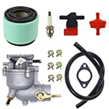 NIMTEK Carburetor Air Filter Tune-Up Kit For Briggs & Stratton 390323 394228 299169 7 8 9 HP Horizontal Engine Motor Generator Tiller Mower Carb Toro Snowblower 293950 394514