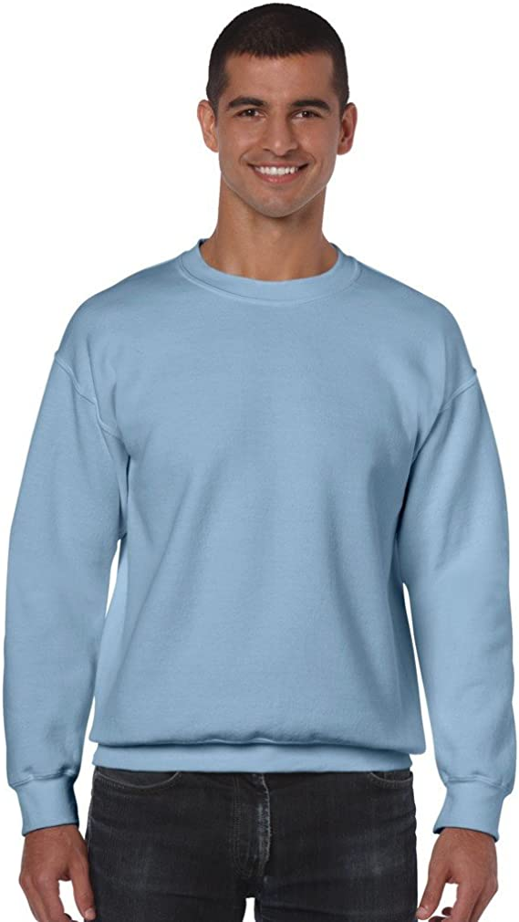 Gildan Heavy Blend Adult Crew Neck SweatShirt Light Blue M at Amazon Men's Clothing store