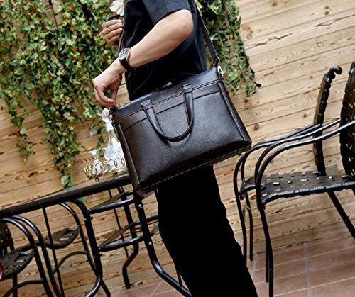 Hombres Maletín Hombre Bolso Negocio Bolso Cruz Sección Bolsa De Hombro Messenger Mochila Casual Black