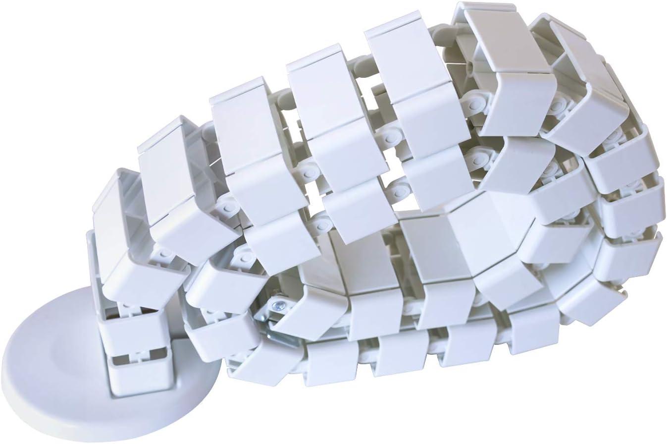 Schwarz AIMEZO 128CM Kabelf/ührungsh/ülsen Kabel Wirbels/äulendr/ähte Kabelorganisator f/ür Stehpulte B/ürotische H/öhenverstellbarer Schreibtisch