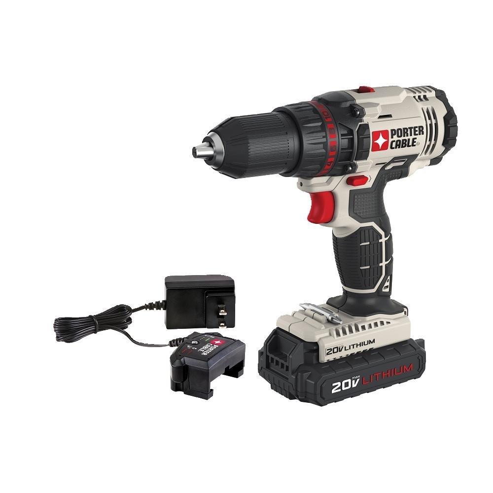 PORTER-CABLE 20V MAX Cordless Drill Driver Kit, 1 2-Inch PCC601LA
