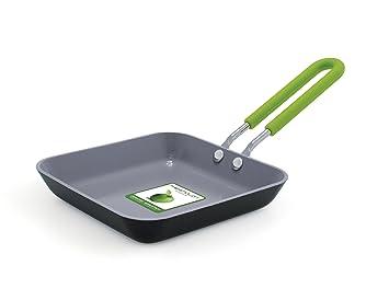 GreenPan Primeros cw001360 - 006 Mini sartén Aluminio Negro 12,5 cm: Amazon.es: Hogar
