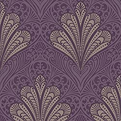 Alberti Damask Wallpaper Elderberry Arthouse 952400