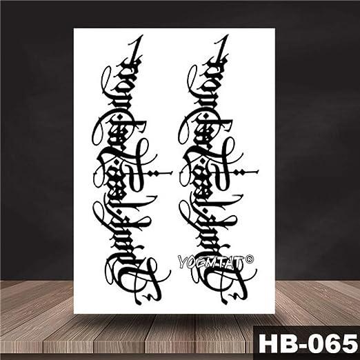 tzxdbh 5Pcs-Yin Yang Shi Tótem Largo Etiqueta engomada del Tatuaje ...