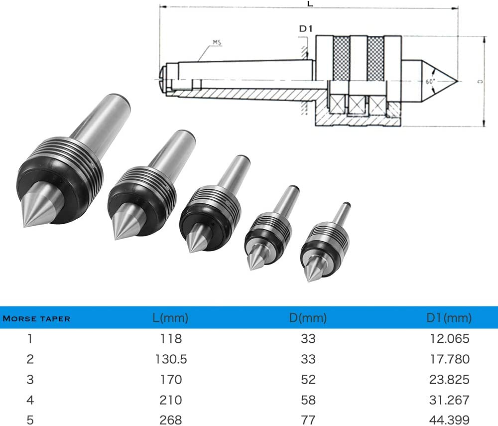 Topuality Accuracy Heavy Duty Bearing Morse Taper Shaft CHC Lathe Center High Speed Turning Machine Tool